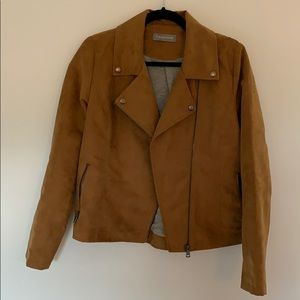 Camel Colored sueded Moto Jaclet